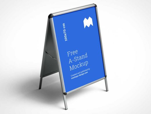 Display Stand Poster Signboard PSD Mockup