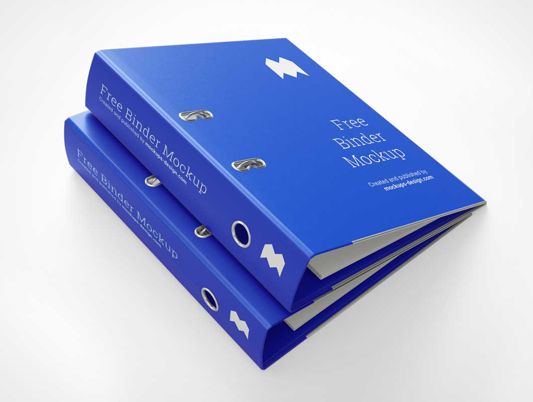 Hardcover 2 Ring Legal Binders PSD Mockup