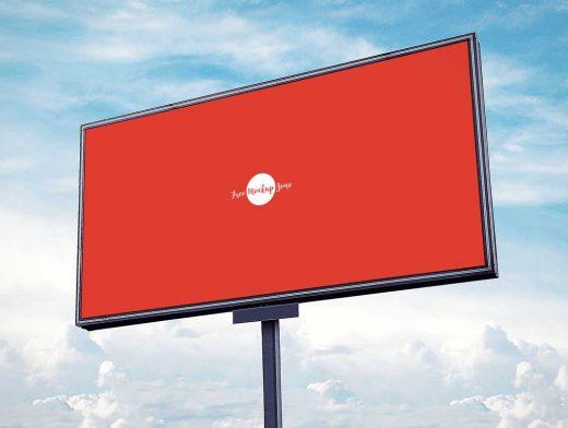 Outdoor Advertising Landscape Billboard PSD Mockup