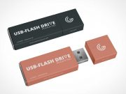 USB Flash Storage Stick Drive PSD Mockup