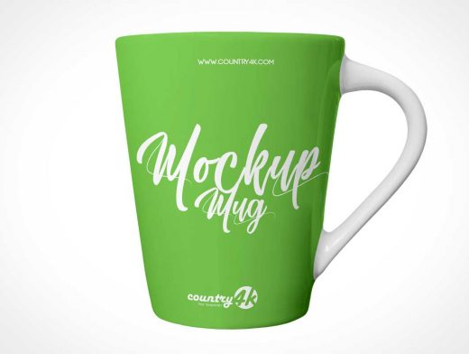 Cairngorm Coffee Mug & Handle PSD Mockup