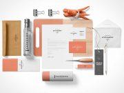 Corporate Branded Stationery PSD Mockup