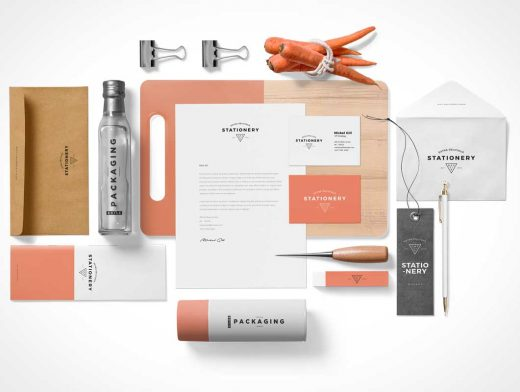 Corporate Branded Stationery PSD Mockup