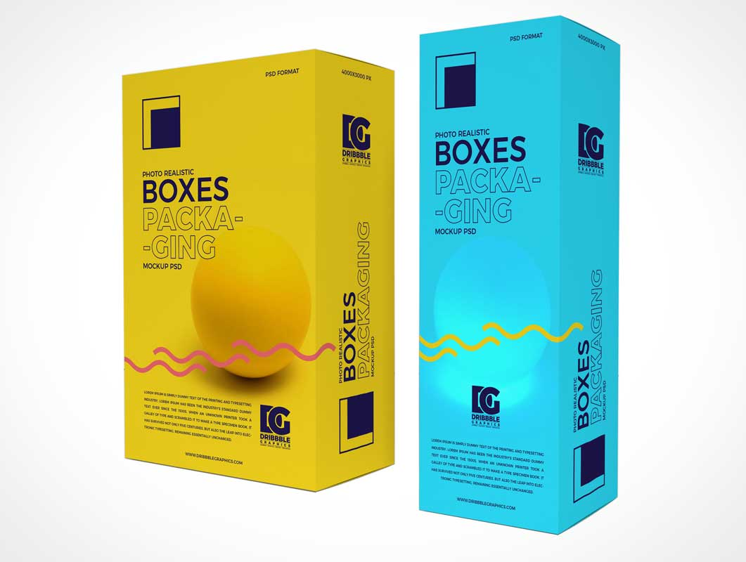 Cosmetic Brand Boxset Packaging PSD Mockup