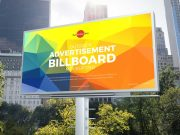 Downtown Outdoor Billboard Advertising PSD Mockup