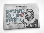 Front Page Newspaper Cover PSD Mockup