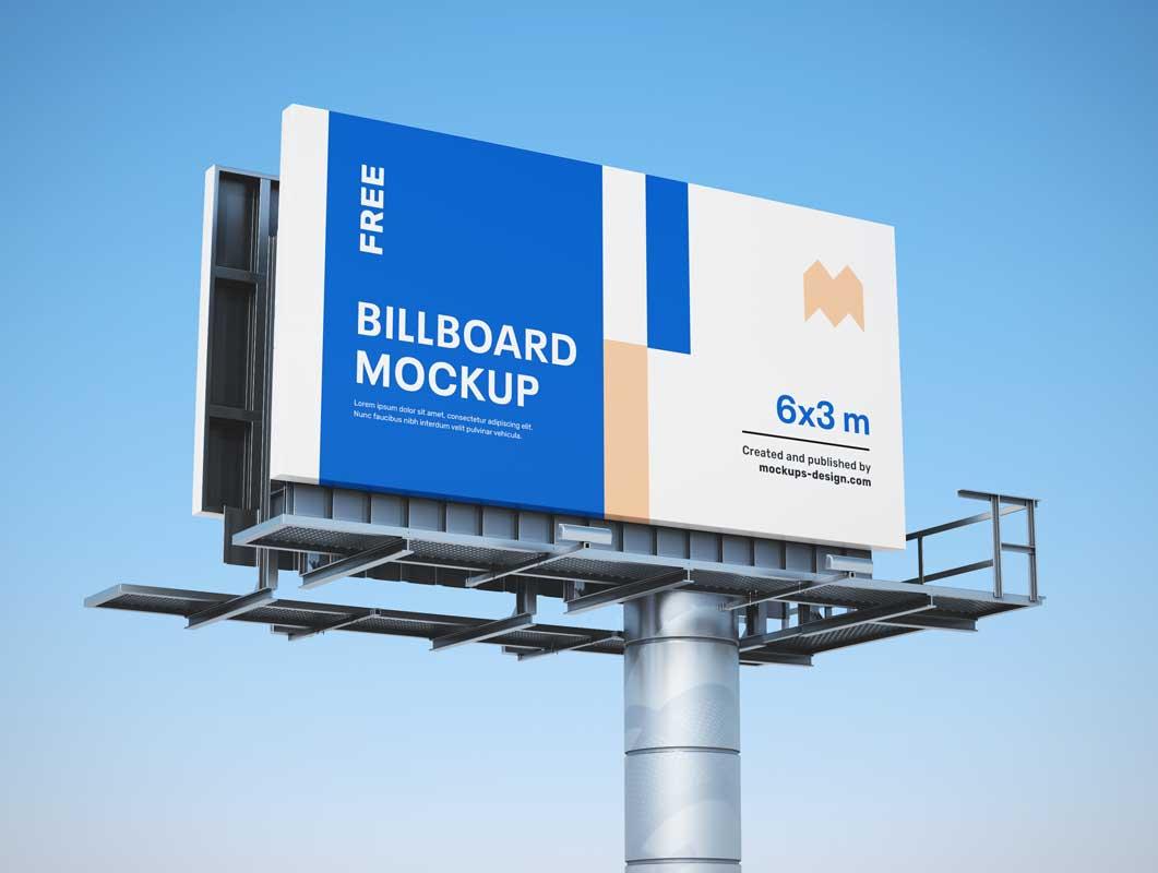 Interstate Outdoor Billboard Advertising PSD Mockup