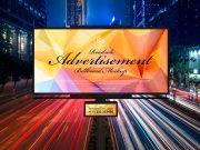 Landscape Highway Billboard Advertising PSD Mockup