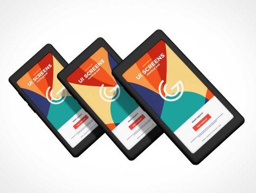 Mobile Smartphone Display Showcase PSD Mockup