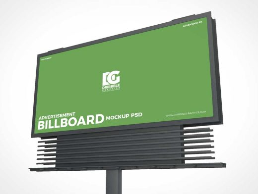 Outdoor Landscape Billboard Advertising PSD Mockup