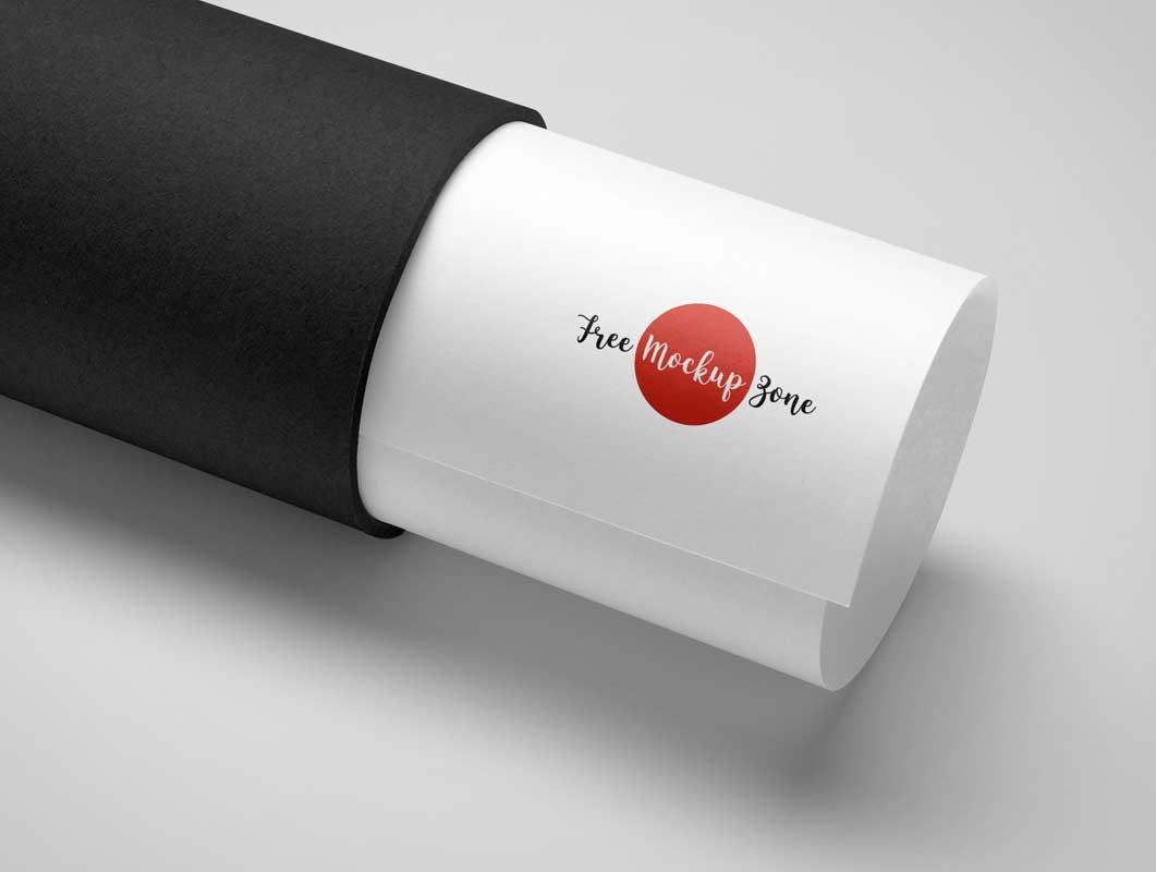 Protective Shipping Tube Mailer PSD Mockup