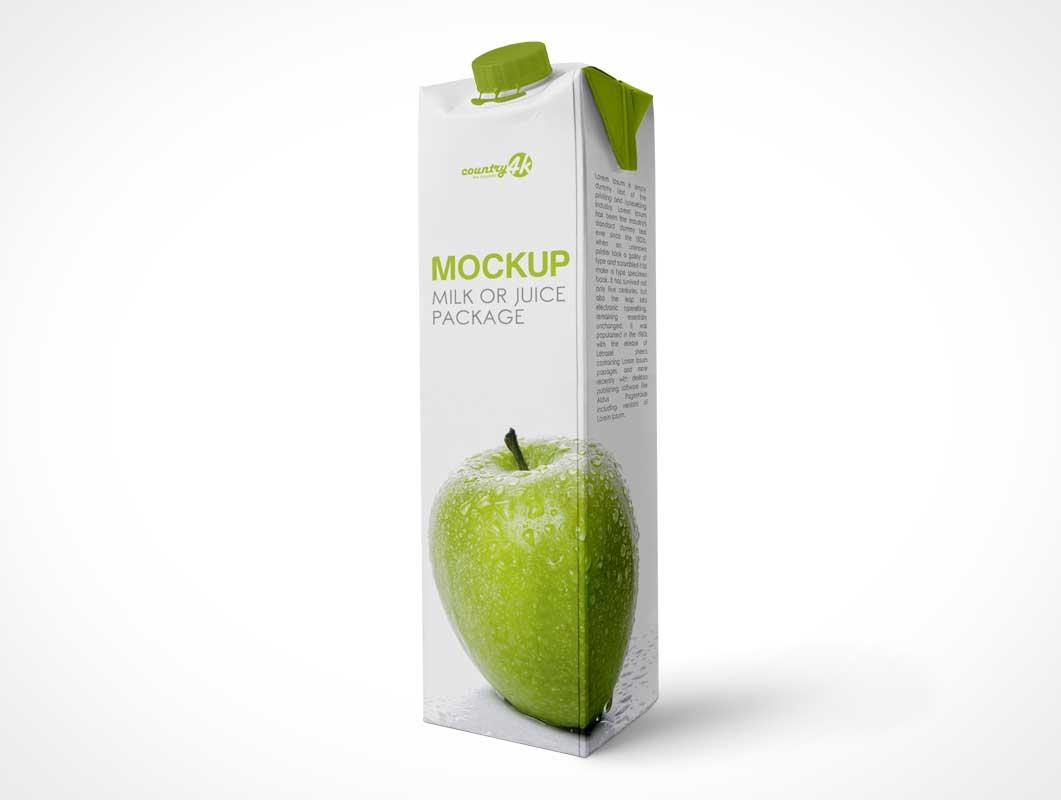 Tetra Pak 1L Juice Carton PSD Mockup