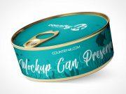Tin Tuna Can & Pull Tab Lid PSD Mockup