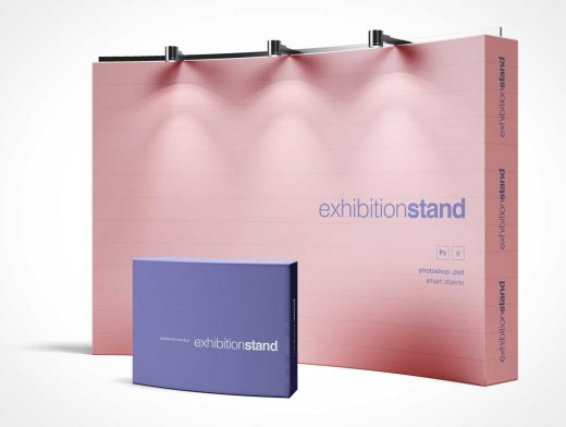 Trade Show Exhibition Booth Stand PSD Mockup