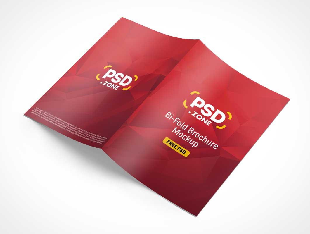2 Panel Brochure PSD Mockup