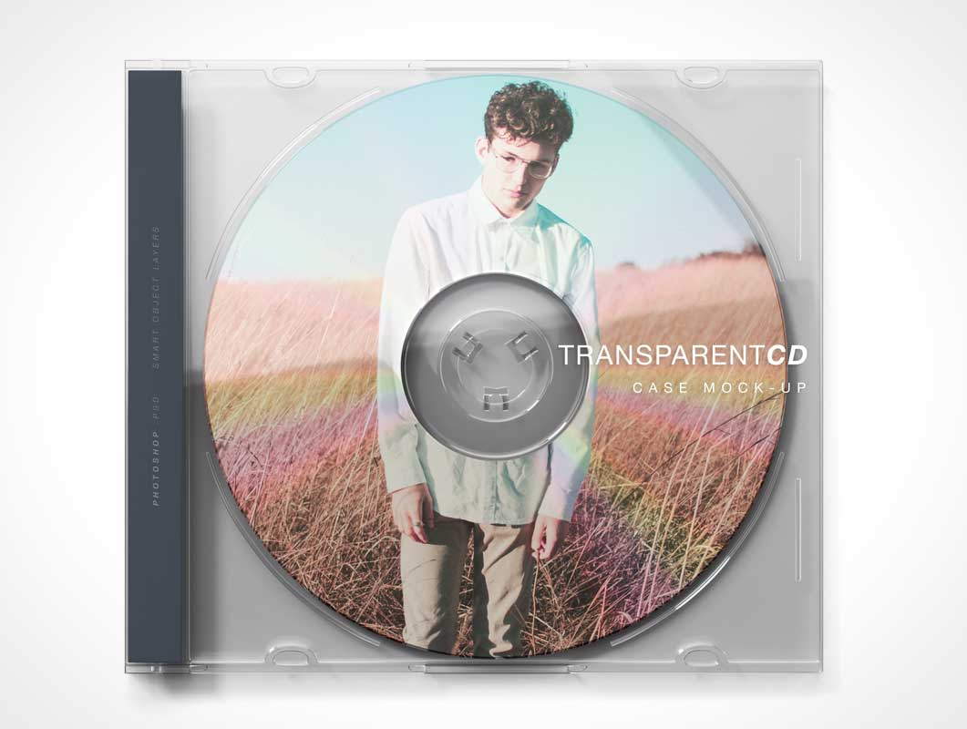 Compact Disc Music CD Album & Jewel Case PSD Mockup
