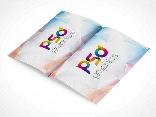 Folded Bi Fold Brochure PSD Mockup