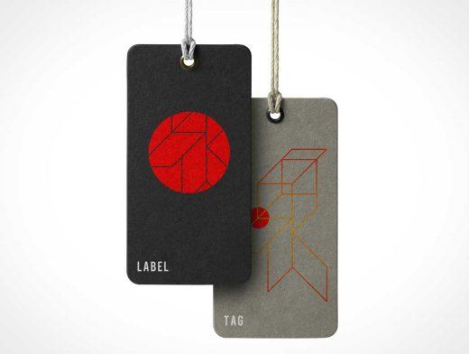 Heavy Stock Cardboard Tag & Grommet PSD Mockup