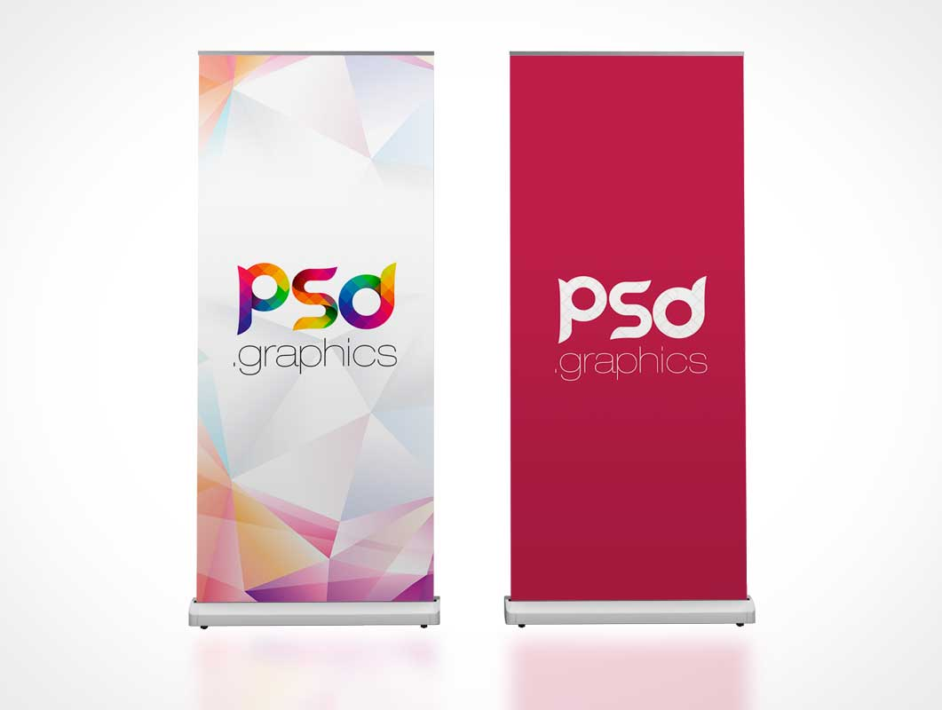 Rollup Trade Show Banner Flag PSD Mockup