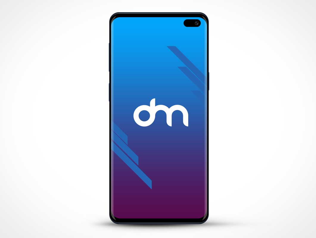 Samsung Galaxy S10 Mobile Display PSD Mockup