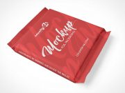 Sealed Foil Pouch Packet PSD Mockup