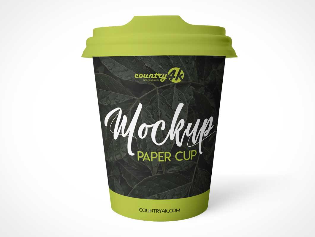 Sip Lid Paper Coffee Cup PSD Mockup