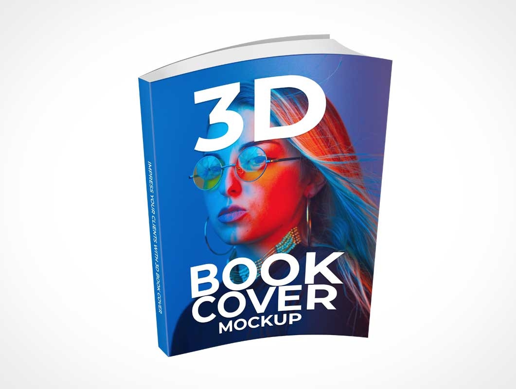 Softcover Paperback Book Front PSD Mockup