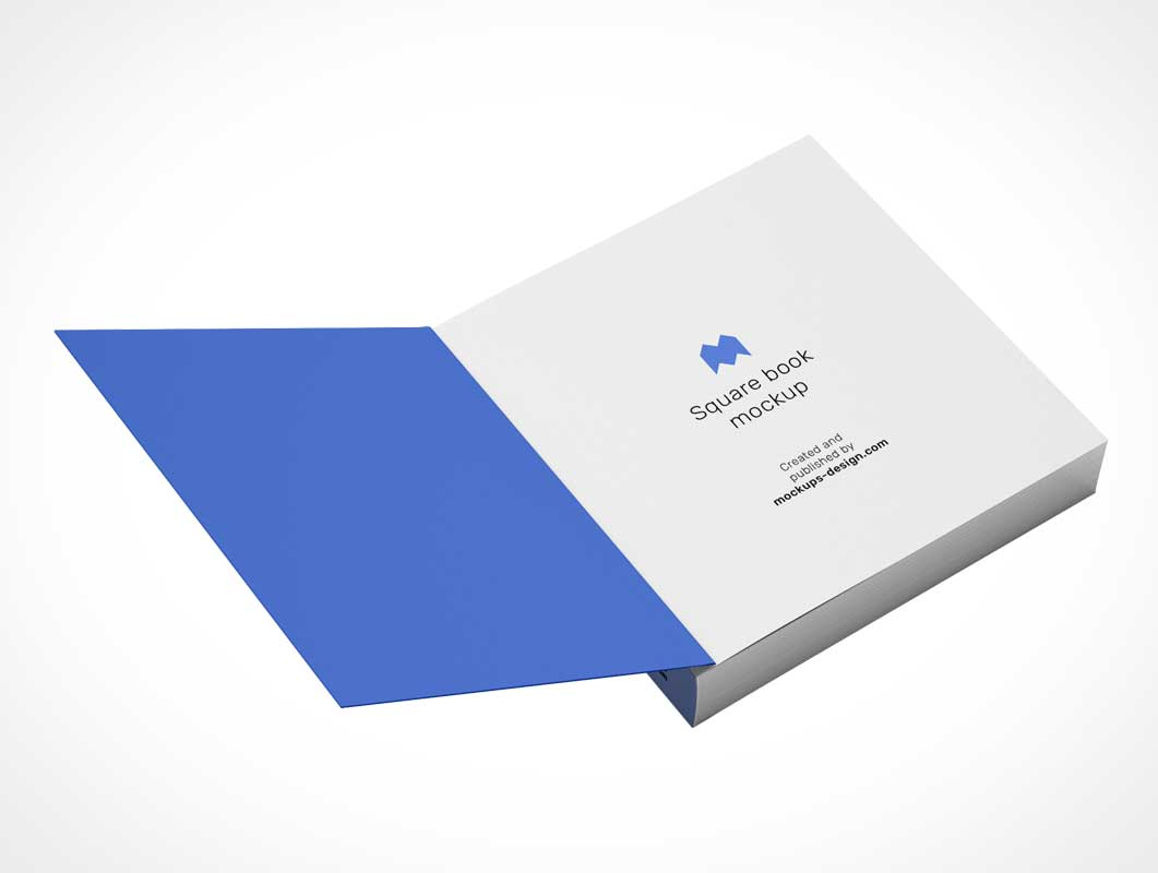 Square Softcover Publication PSD Mockup