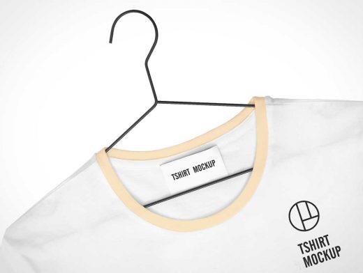 T-Shirt Collar Tag & Branding PSD Mockup