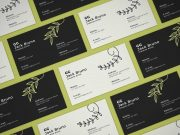 Business Card Front & Back Branding PSD Mockup