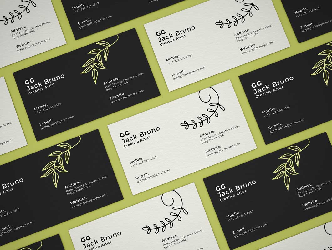 Business Card Front & Back Branding PSD Mockup