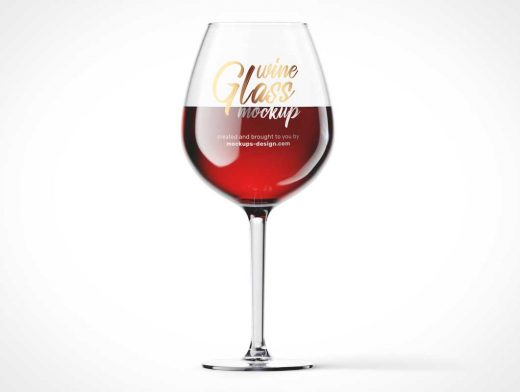 Long Stem Wine Glass PSD Mockup
