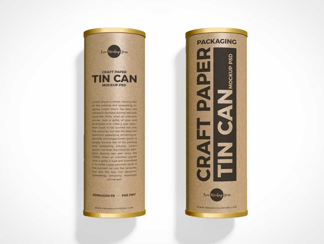 Mailer Craft Tube Container PSD Mockup