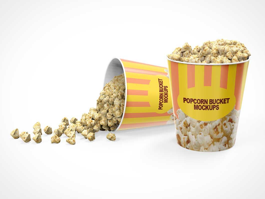 Movie Popcorn Bucket PSD Mockup