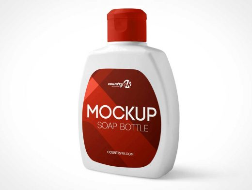 Snap Cap Plastic Detergent Bottle PSD Mockup