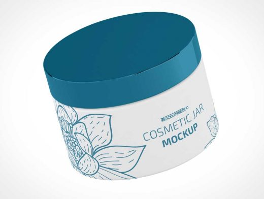 Wide Mouth HDPE Cosmetic Cream Jar PSD Mockup