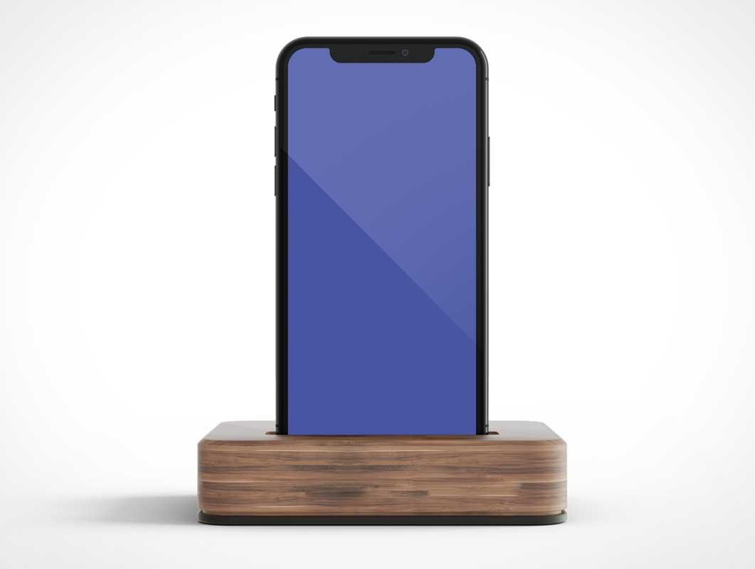 iPhone X & Charging Dock PSD Mockup