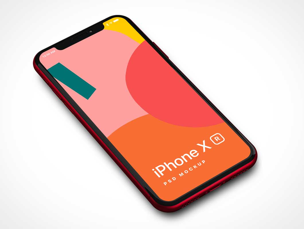 iPhone X Mobile Display Screen PSD Mockup