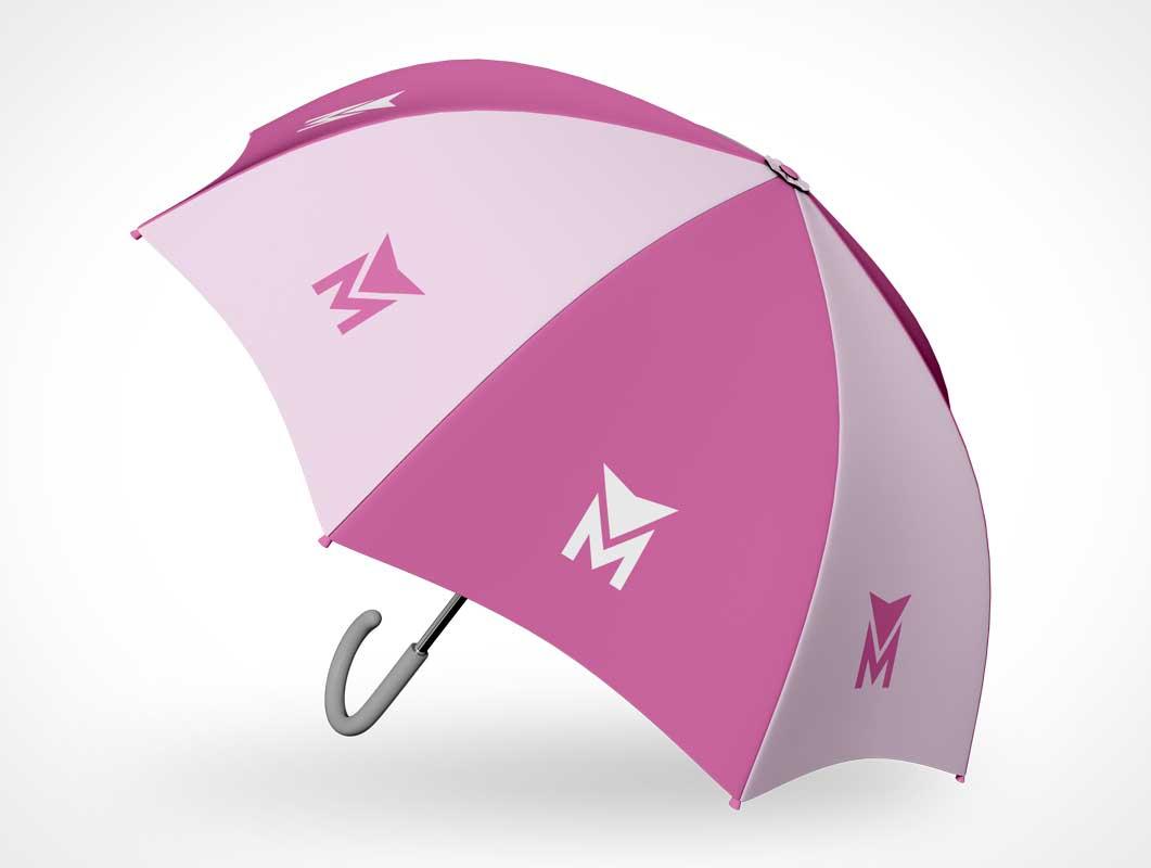 Brand-able Umbrella & Handle Colour PSD Mockup
