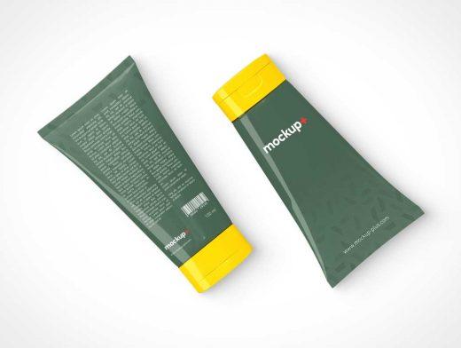 Cosmetics Cream Tube PSD Mockup