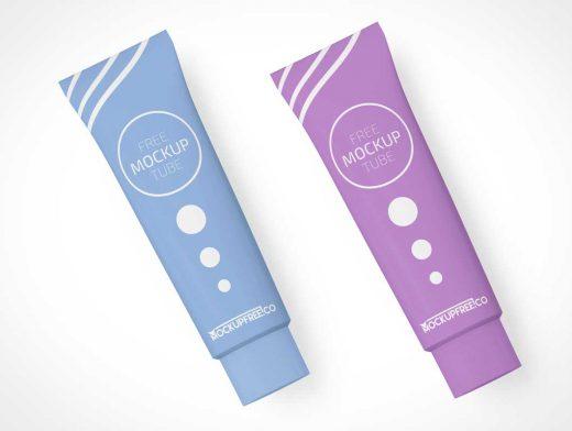 Cosmetics Moisturizer Lotion Tube PSD Mockup