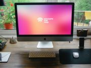 Designer's iMac Home Workstation PSD Mockup