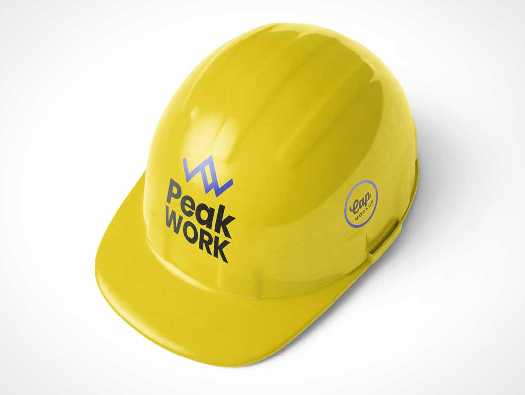 Job Site Construction Helmet PSD Mockup