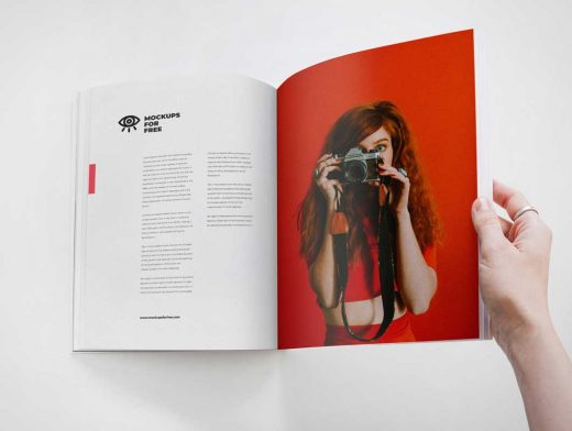 Page Turning Softcover Magazine PSD Mockup
