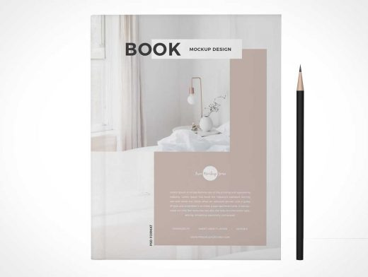 Softcover Magazine Publication Cover & Stylus PSD Mockup