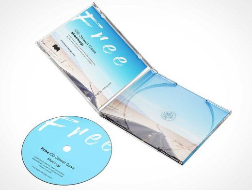 Compact Disc Album Jewel Case PSD Mockup