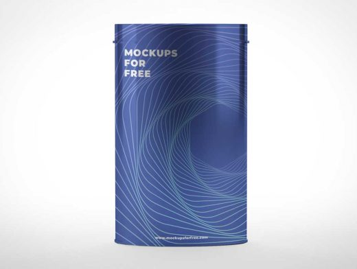Long Metal Canister PSD Mockup