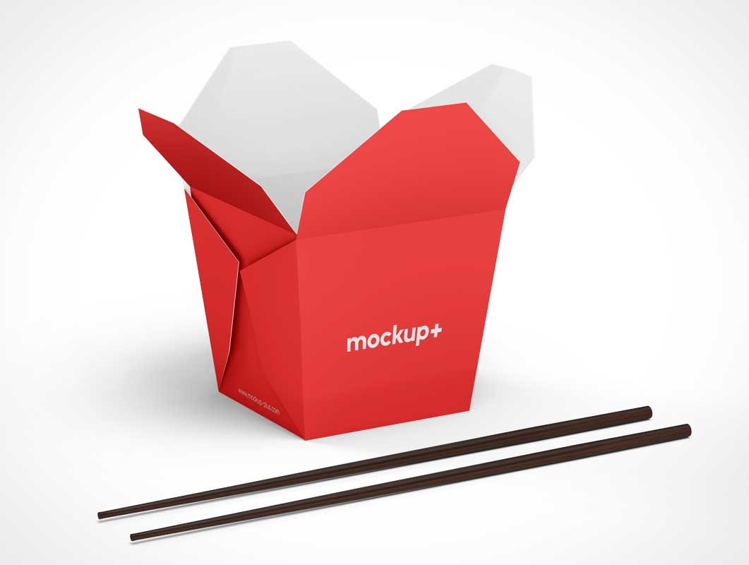 Pagoda Take Out Box PSD Mockup