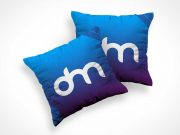 Square Plush Throw Pillow Cushions PSD Mockup