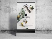 Bench & Billboard Poster PSD Mockup